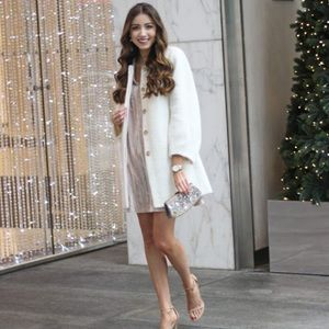NEW! LOFT Blouson Coat Winter White Petite XS P